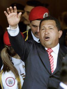 Former Venezuelan President Hugo Chavez.