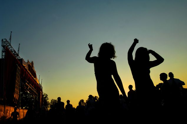 Partying down at Bonnaroo in our RFID wristbands, looking like an iPod silhouette
