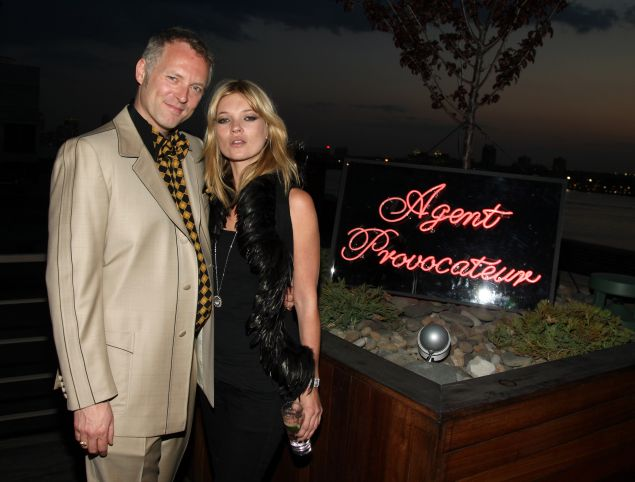 NEW YORK - MAY 06: (L-R) Agent Provocateur founder Joe Corre and model Kate Moss attend Agent Provocateur and a Milk Studios Project?s WHITE WEDDING with Kate Moss at Milk Studios on May 6, 2008 in New York City.