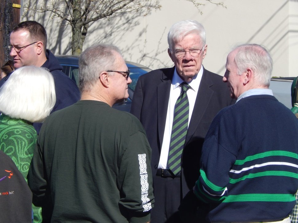 Whether planned or not, Assemblyman Tom Giblin (D-34) is always the centerpiece of these North Jersey St. Pat's Day parades.