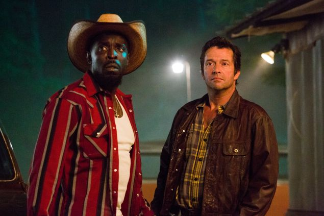 James Purefoy as Hap Collins and Michael Kenneth Williams as Leonard Pine.