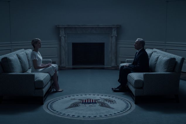 Robin Wright and Kevin Spacey in House of Cards.