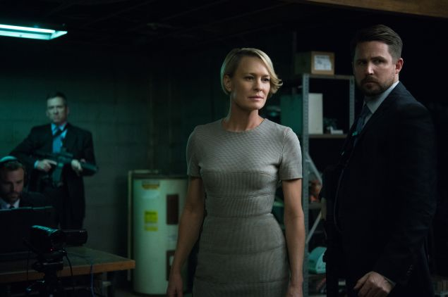 Claire Underwood (Robin Wright) brings the steel--and the terror--to House of Cards.
