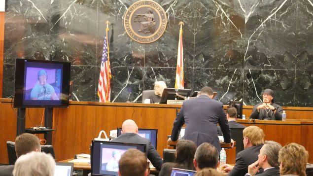 Hulk Hogan on the witness stand.