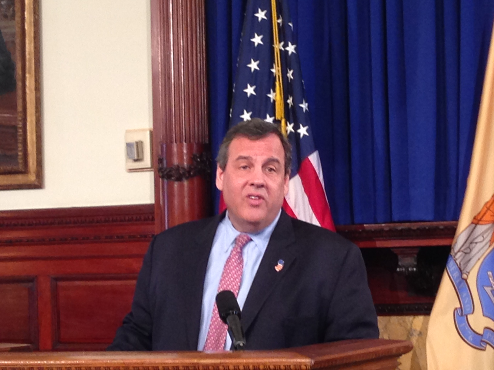 Christie at the State House on March 3.