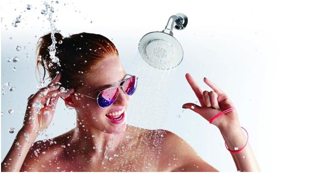 Bonnaroo's showerheads, sponsored by Kohler