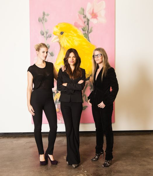 Casey Fremont, Doreen Remen, Yvonne Force Villareal, of Art Production Fund at Maccarone Gallery