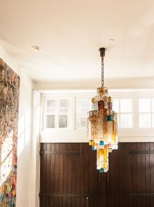 Front hall chandelier.