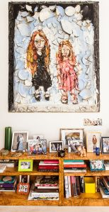 Julian Schnabel painting of Bendet's daughters.