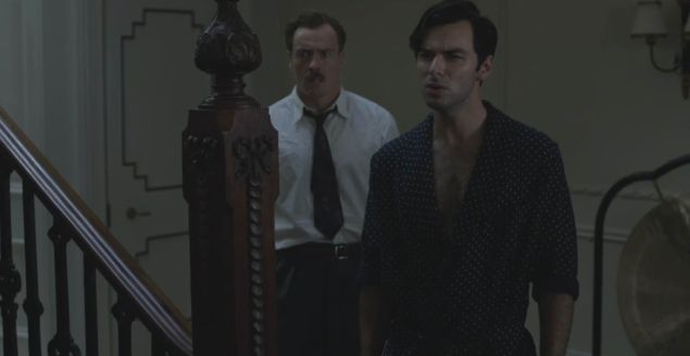 Toby Stephens and Aidan Turner in And Then There Were None.