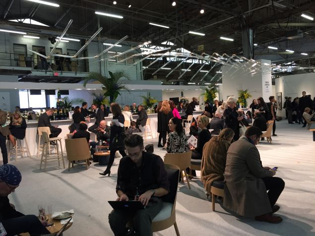 The Armory Show's Champagne Lounge.