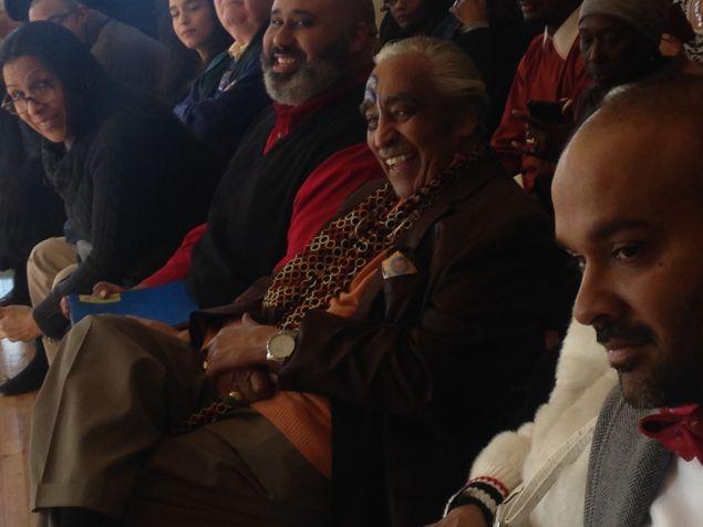 Congressman Charles Rangel, center, with West Harlem Progressive Democratic Club President Corey Ortega, left.