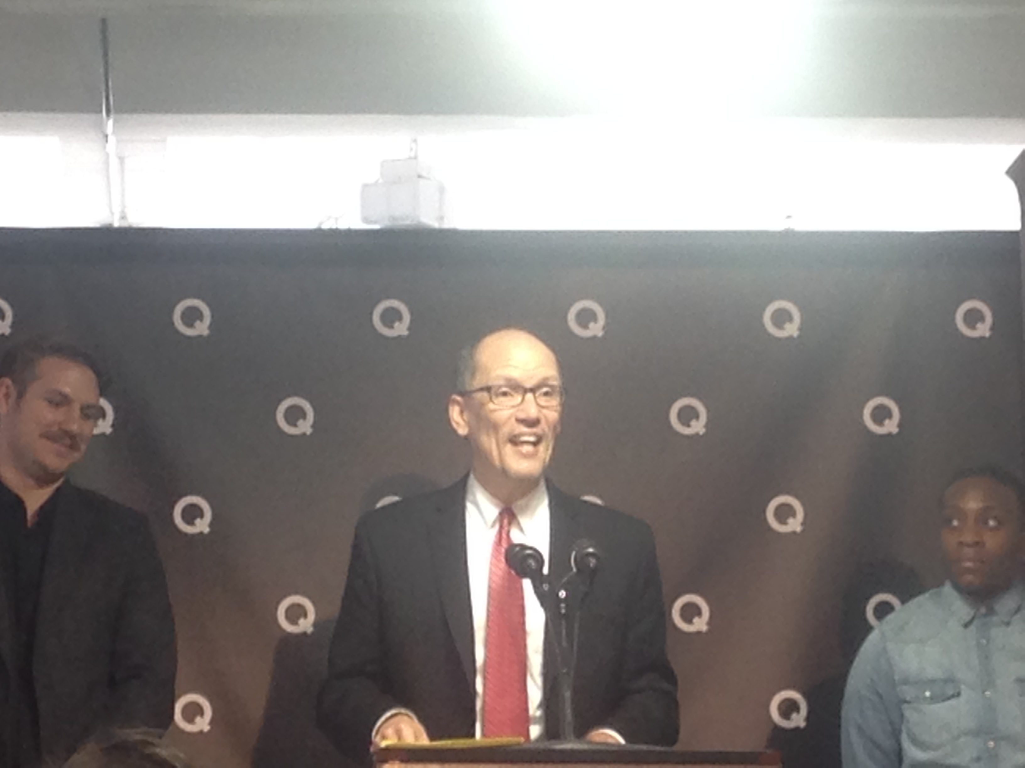 Thomas Perez at Q headquarters today.