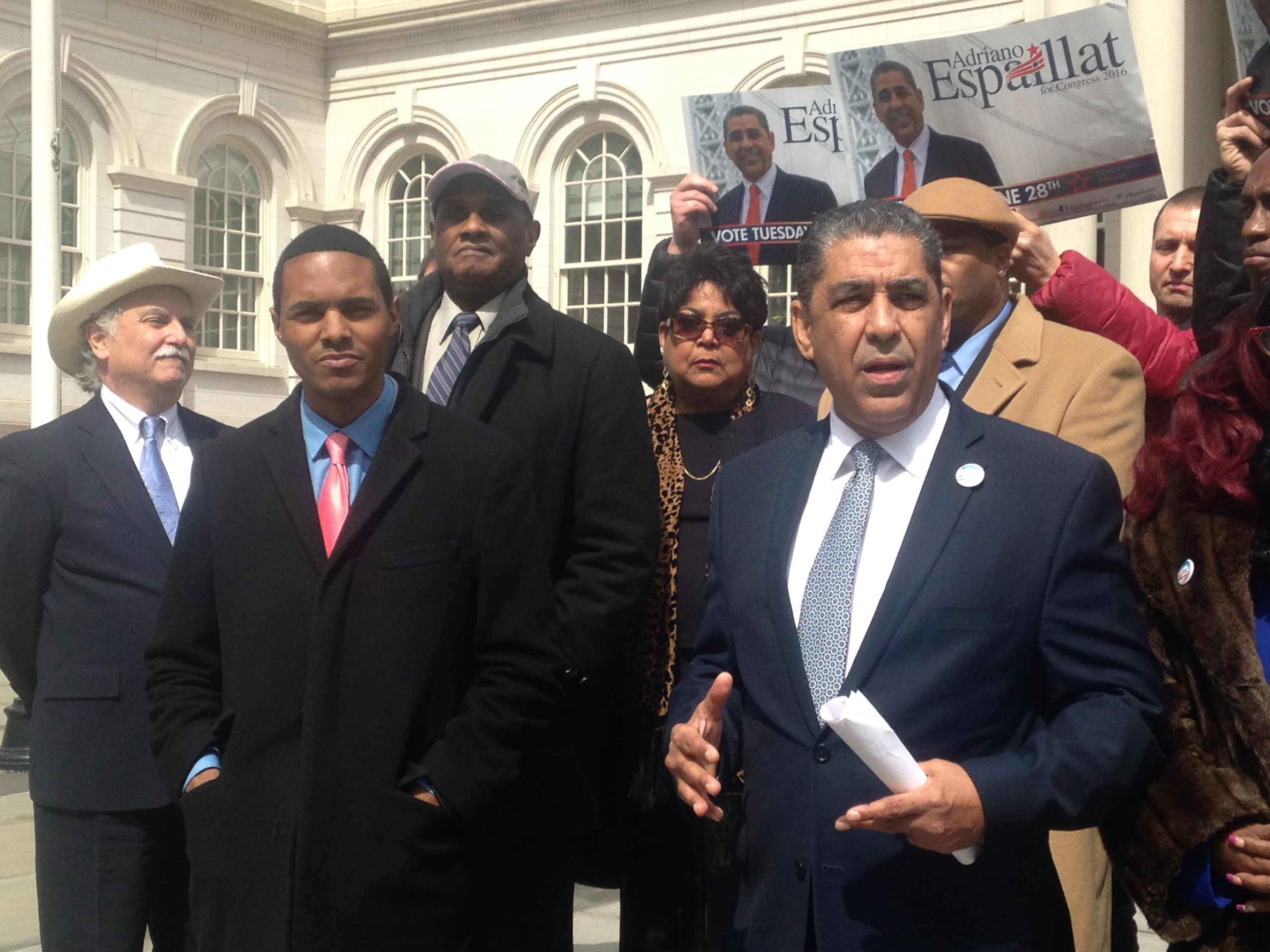 State Senator Adriano Espaillat, right, with Councilman Ritchie Torres.