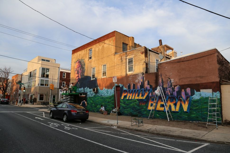 Bernie Sanders mural in Philadelphia
