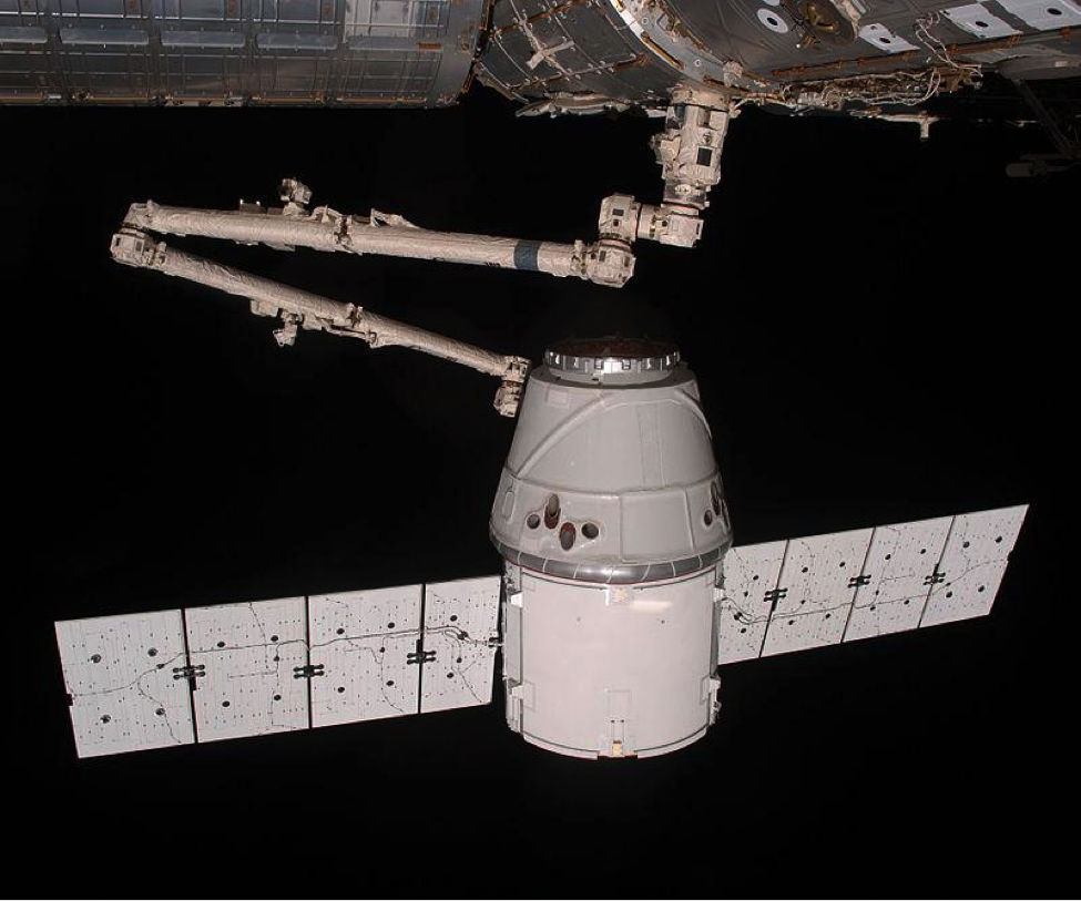 The Dragon birthed with the International Space Station
