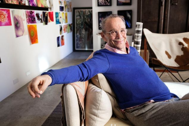 Joel Grey at home.