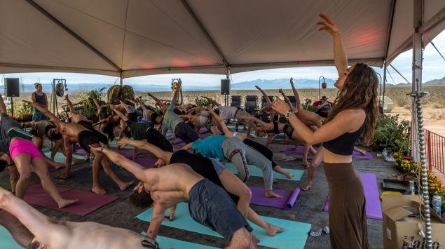 Last year's yoga class