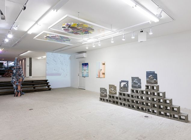 """Installation view of """"Low,"""" curated by Ethan Greenbaum and Michael DeLucia."""