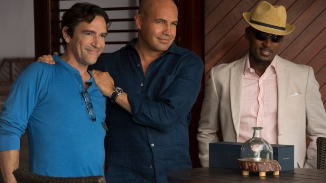 TK, Billy Zane, and TK in Mad Dogs.