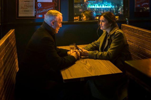 Robert John Burke and Mariska Hargitay in Law & Order:SVU.