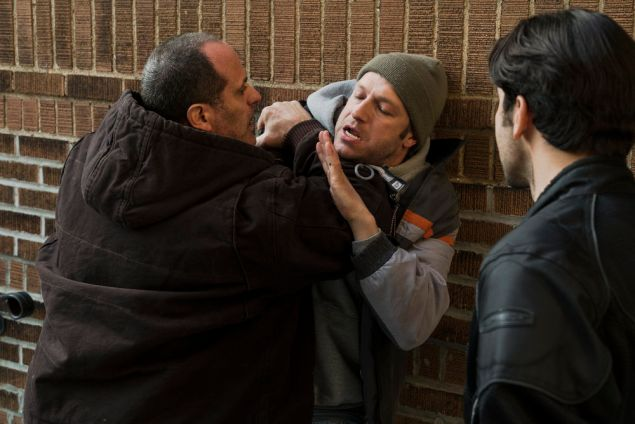 Saul Stein as Terry Nomaks and Peter Scanavino as Det. Sonny Carisi