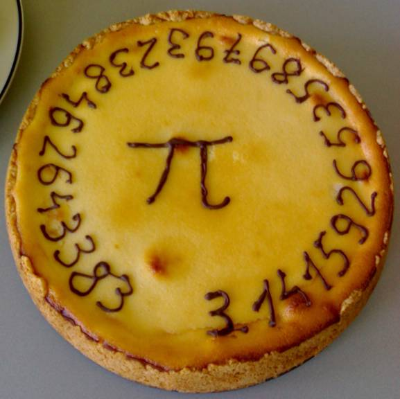 A pie for Pi Day.