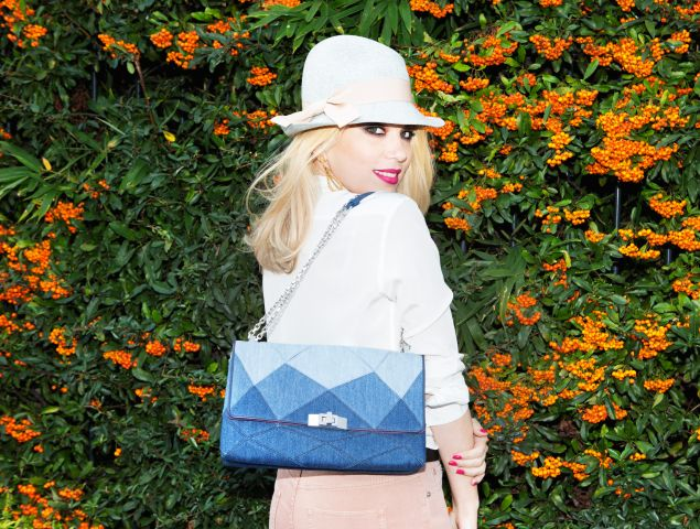 Camille Seydoux with her Roger Vivier collab