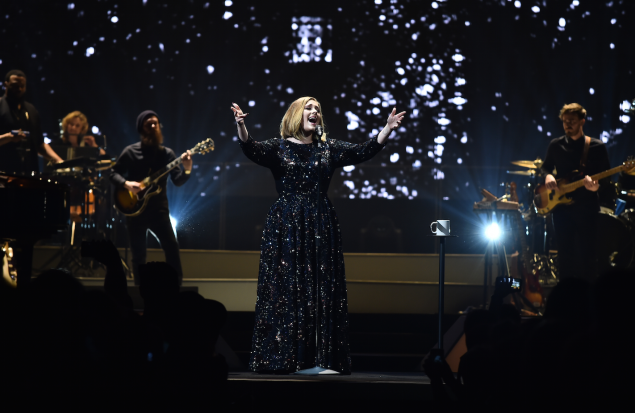 Adele belting it out.