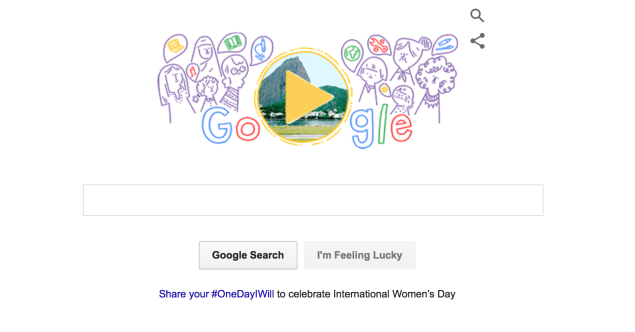 Google's International Women's Day 2016 Doodle