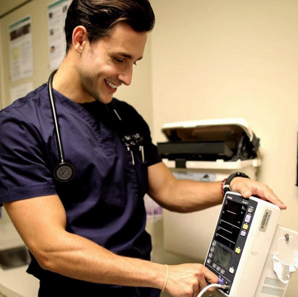 This isn't a stock photo of a handsome doctor, it's New York's own Dr. Mike