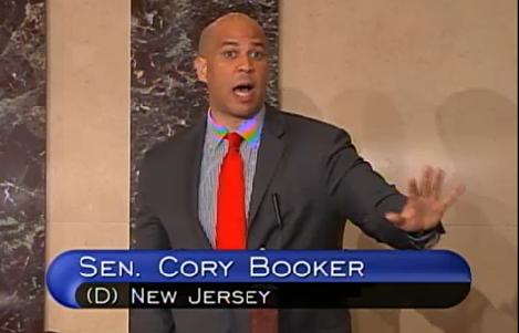 Booker on the Senate floor.