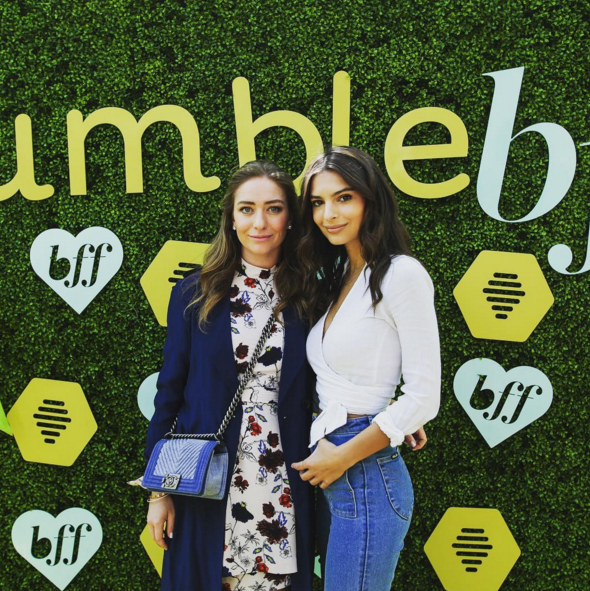 Bumble founder Whitney Wolfe and model Emily Ratajkowski