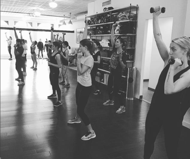 Modelfit's dance cardio class