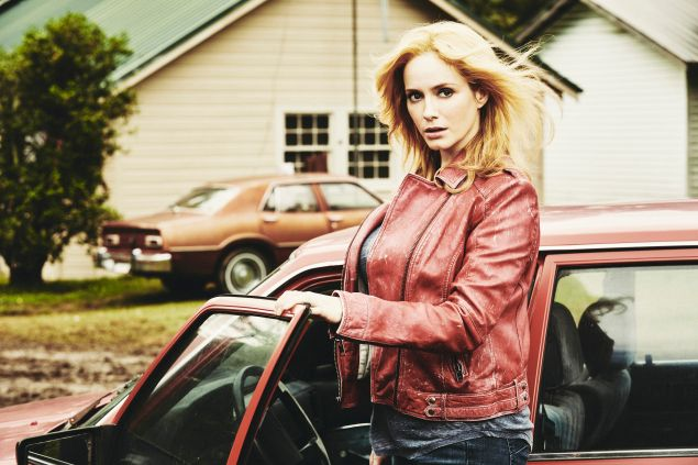 Christina Hendricks as Trudy in Hap and Leonard.