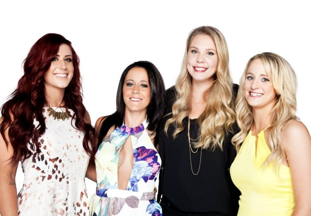 Chelsea Houska, Janelle Evans, Kailyn Lowry, and Leah Messer.