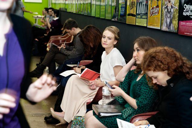 waiting area at Telsey & co casting agency photo: celeste sloman / ny observer