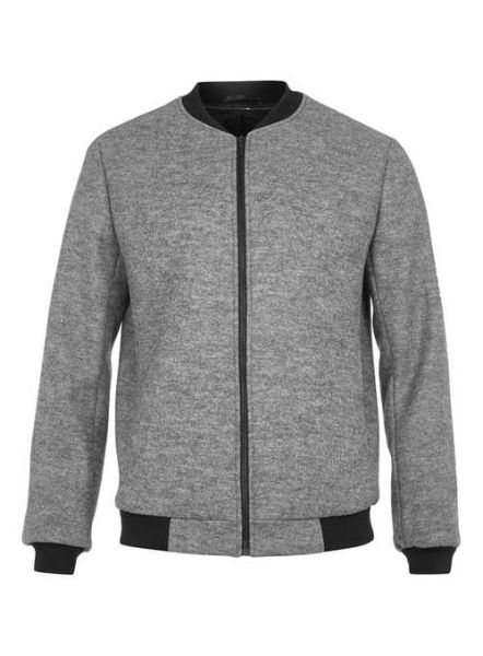 Topman Grey Wool Blend Tailored Bomber Jacket, $160, Topman.com
