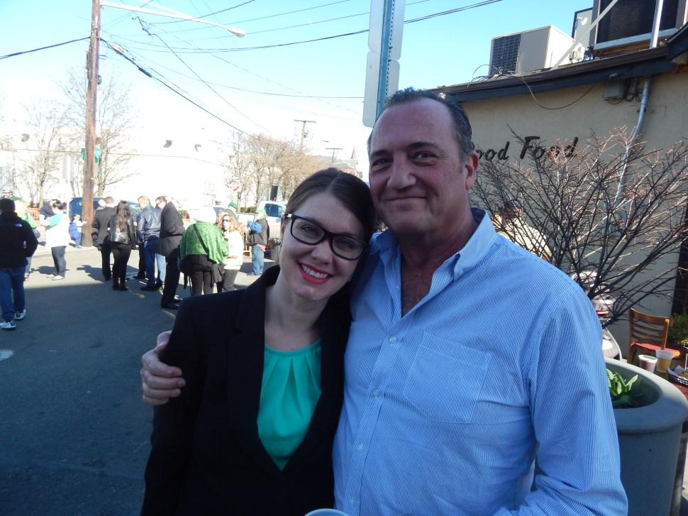 Jersey City Councilwoman Candice Osborne with Tommy Bertoli.