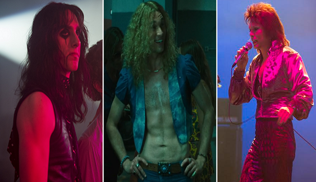 (L-R) Dustin Ingram as Alice Cooper, Zebedee Row as Robert Plant, and Noah Bean as David Bowie.