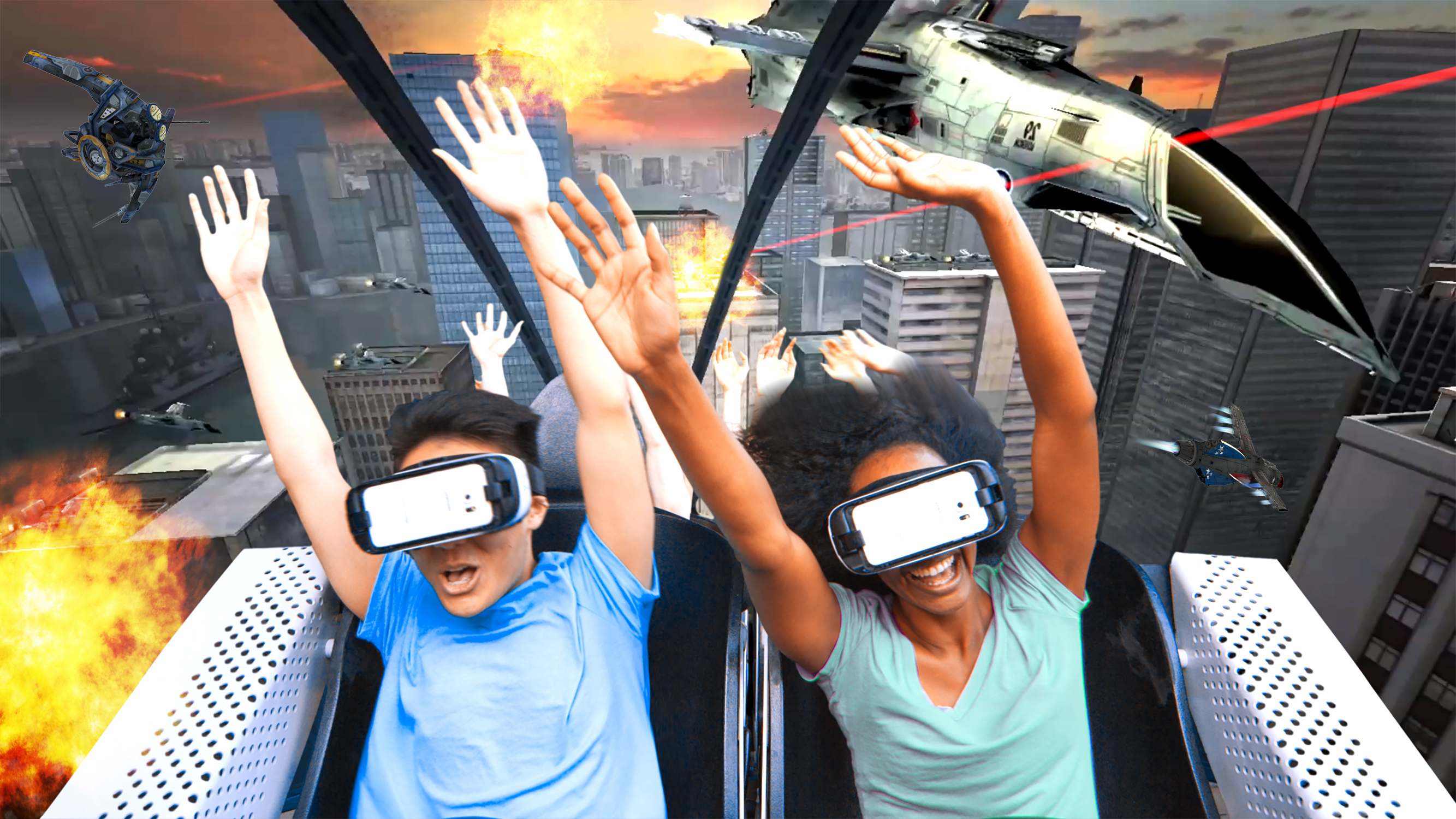 Virtual reality is coming to real-life roller coasters.