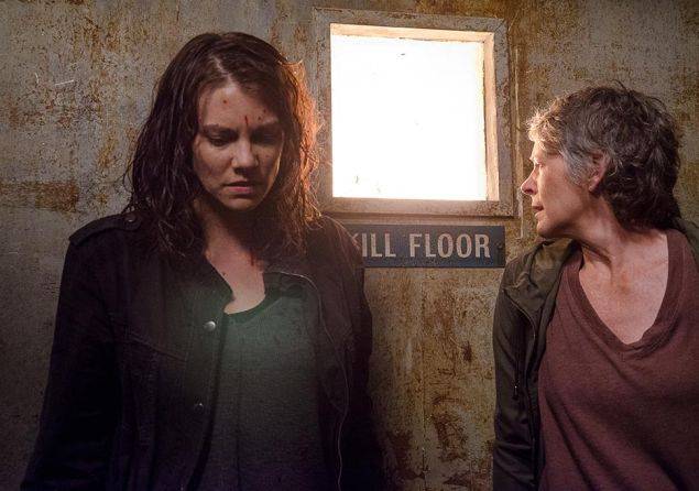 Lauren Cohan and Melissa McBride in The Walking Dead.