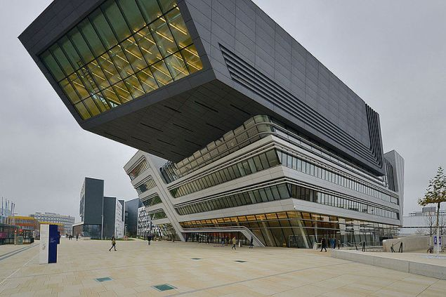 The Vienna University of Economics and Business, Library and Learning Center, by architect Zaha Hadid.