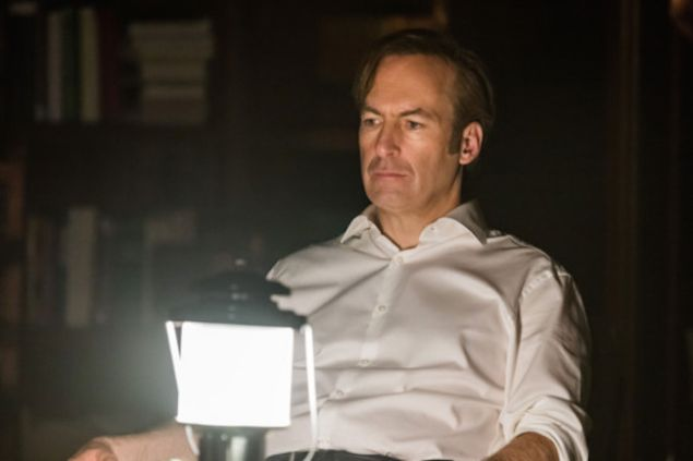 Bob Odenkirk ponders by lamplight in Better Call Saul.