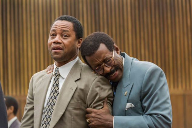 Cuba Gooding Jr. and Courtney B. Vance on The People v. O. J. Simpson: American Crime Story.