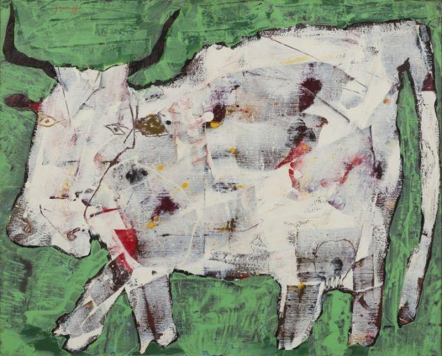 Jean Dubuffet, Vache aux cornes noires (Cow with Black Horns), August 1954.