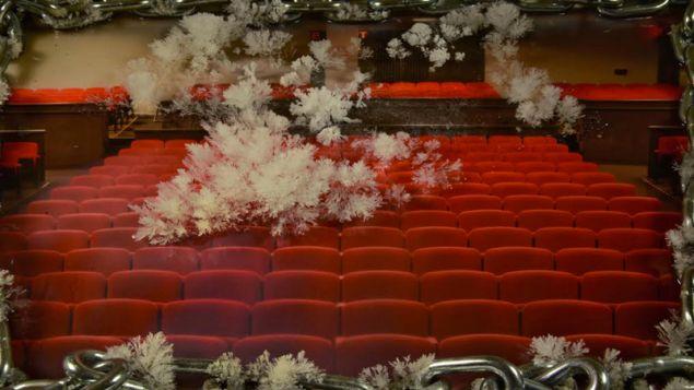 Untitled still from video shot at MoMA, (2016).
