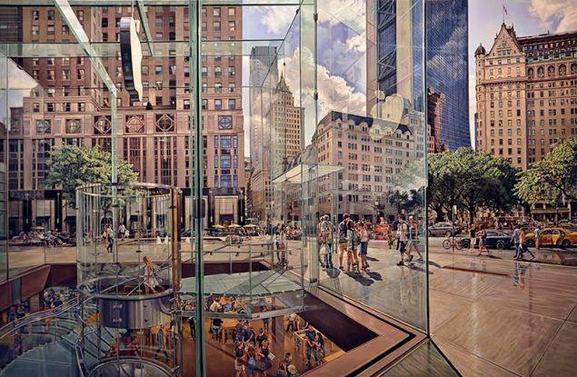 Robert Neffson, NYC Apple, 2016.