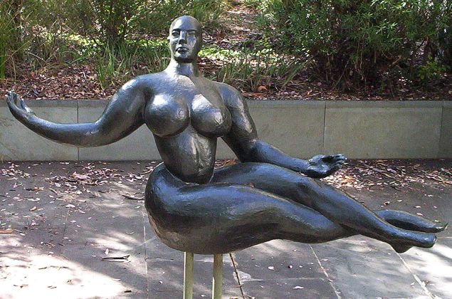 Gaston Lachaise's Floating Figure at the National Gallery of Australia, Canberra.