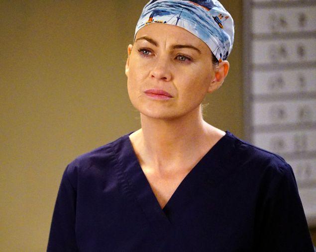 Ellen Pompeo as Meredith Grey.